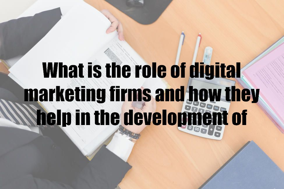 What is the role of digital marketing firms and how they help in the development of business?